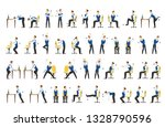office exercise set. body... | Shutterstock .eps vector #1328790596