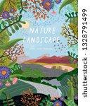 nature landscape. vector... | Shutterstock .eps vector #1328791499