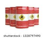 flammable substance red barrels ... | Shutterstock . vector #1328797490