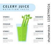 fresh celery juice in glass ...   Shutterstock .eps vector #1328799026