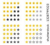 rating golden stars  set....   Shutterstock .eps vector #1328799323