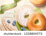 delicious wheat bagel ads with... | Shutterstock .eps vector #1328804573