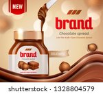 chocolate spread ads with... | Shutterstock .eps vector #1328804579