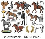 horses  equestrian sport and... | Shutterstock .eps vector #1328814356