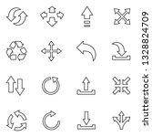 arrows icons. thin line design. ...