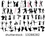 illustration with dancer... | Shutterstock .eps vector #13288282