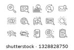 search line icons. indexation ... | Shutterstock .eps vector #1328828750