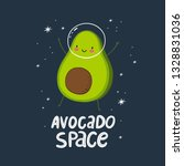 cute cartoon print with avocado ... | Shutterstock .eps vector #1328831036