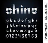ribbon font. vector alphabet...   Shutterstock .eps vector #1328831483