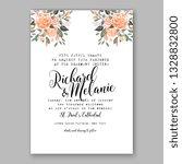 peach anemone wedding... | Shutterstock .eps vector #1328832800
