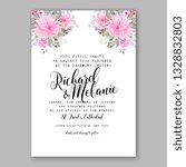 pink ranunculus anemone wedding ... | Shutterstock .eps vector #1328832803