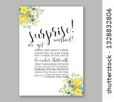 anemone wedding invitation card ... | Shutterstock .eps vector #1328832806