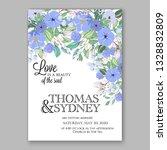 anemone blue  wedding... | Shutterstock .eps vector #1328832809