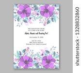 anemone violet poppy greenery... | Shutterstock .eps vector #1328832860