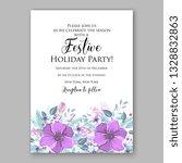 anemone violet poppy greenery... | Shutterstock .eps vector #1328832863