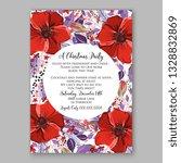 anemone red poinsettia poppy... | Shutterstock .eps vector #1328832869