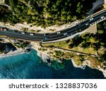 Aerial View Of Road Going Alon...