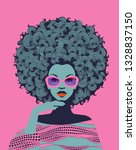 afro american woman art... | Shutterstock .eps vector #1328837150