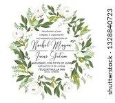 floral wedding invitation peony ...   Shutterstock .eps vector #1328840723