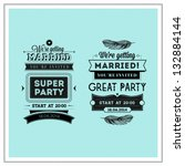 wedding stamps typography | Shutterstock .eps vector #132884144