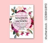 marsala peony wedding... | Shutterstock .eps vector #1328841893