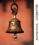 Bronze Bell In Buddhist Temple