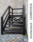 wooden staircase at the street... | Shutterstock . vector #1328853416
