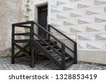 wooden staircase at the street... | Shutterstock . vector #1328853419