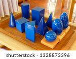 blue solid wood shapes to study ... | Shutterstock . vector #1328873396