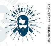 vintage barbershop emblem ...   Shutterstock .eps vector #1328874803