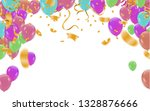 happy birthday card template... | Shutterstock .eps vector #1328876666