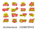 sale tags collection. special... | Shutterstock .eps vector #1328878943