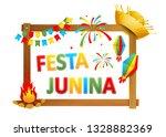 festa junina   text in... | Shutterstock . vector #1328882369