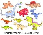 cute dinosaurs  eps10 file  ... | Shutterstock .eps vector #132888890
