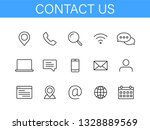 set of contact us icons in line ... | Shutterstock .eps vector #1328889569