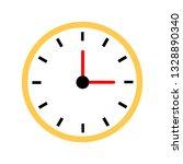 vector office clock. | Shutterstock .eps vector #1328890340