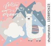 vector alpaca illustration.... | Shutterstock .eps vector #1328892623