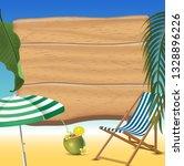 summer time holiday beach... | Shutterstock . vector #1328896226