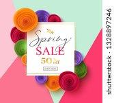vector spring sale banner design | Shutterstock .eps vector #1328897246