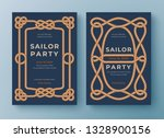two nautical templates. rope...   Shutterstock .eps vector #1328900156