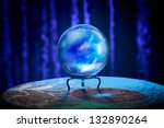 magic crystal ball on a table | Shutterstock . vector #132890264