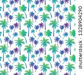 seamless pattern with palm... | Shutterstock .eps vector #1328904290