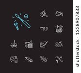 instrument icons set. brick...