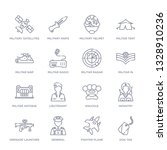 set of 16 thin linear icons...   Shutterstock .eps vector #1328910236