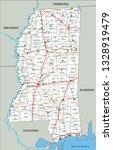 high detailed mississippi road... | Shutterstock .eps vector #1328919479