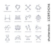 set of 16 thin linear icons... | Shutterstock .eps vector #1328924246