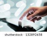 high resolution hand touching... | Shutterstock . vector #132892658
