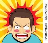 comic illustration of surprised ... | Shutterstock .eps vector #1328928959