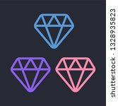 diamond icon vector. diamond... | Shutterstock .eps vector #1328935823