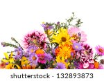 Stock photo beautiful bouquet of bright flowers isolated on white 132893873